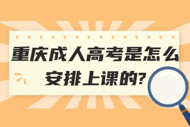 重庆成人高考是怎么安排上课的?