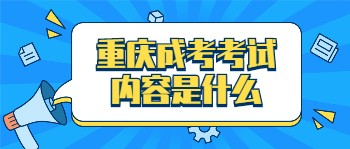 重庆成考考试内容是什么